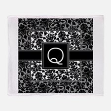 Monogram Letter Q Gifts Throw Blanket