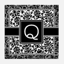 Monogram Letter Q Gifts Tile Coaster