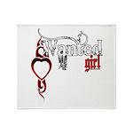 Wanted Girl Throw Blanket