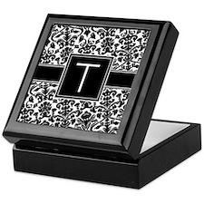 Monogram Letter T Gifts Keepsake Box