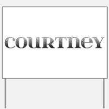 Courtney Carved Metal Yard Sign