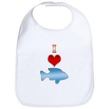I Heart fish Bib