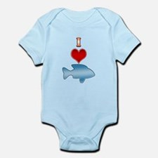 I Heart fish Infant Bodysuit