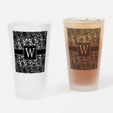 Monogram Letter W Gifts Drinking Glass