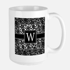 Monogram Letter W Gifts Large Mug