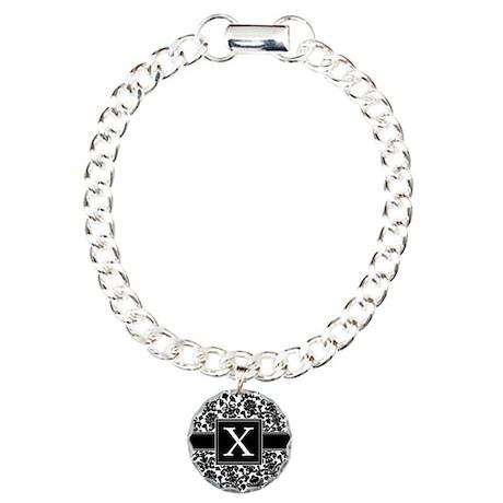 Monogram Letter X Gifts Charm Bracelet, One Charm