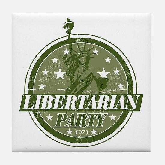 Libertarian Party Tile Coaster