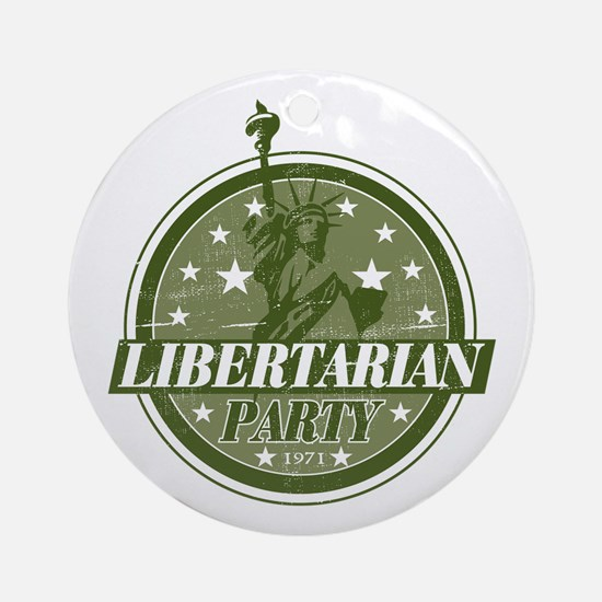 Libertarian Party Ornament (Round)