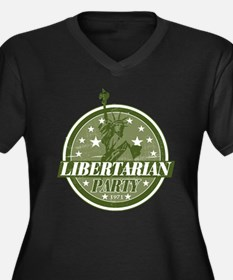 Libertarian Party Women's Plus Size V-Neck Dark T-