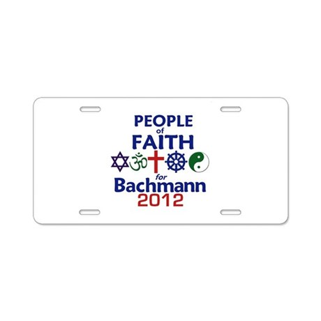 Bachmann 2012 Aluminum License Plate