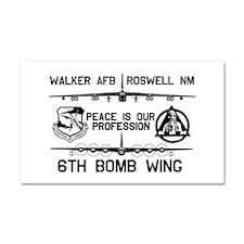 6th Bomb Wing Car Magnet 20 x 12