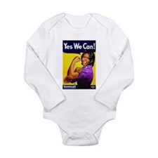 Michelle Obama2 Long Sleeve Infant Bodysuit