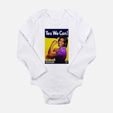 Michelle Obama2 Long Sleeve Infant Bodysuit