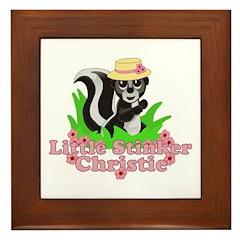 Little Stinker Christie Framed Tile