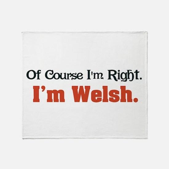 I'm Welsh Throw Blanket