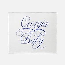 Georgia Baby (blue) Throw Blanket