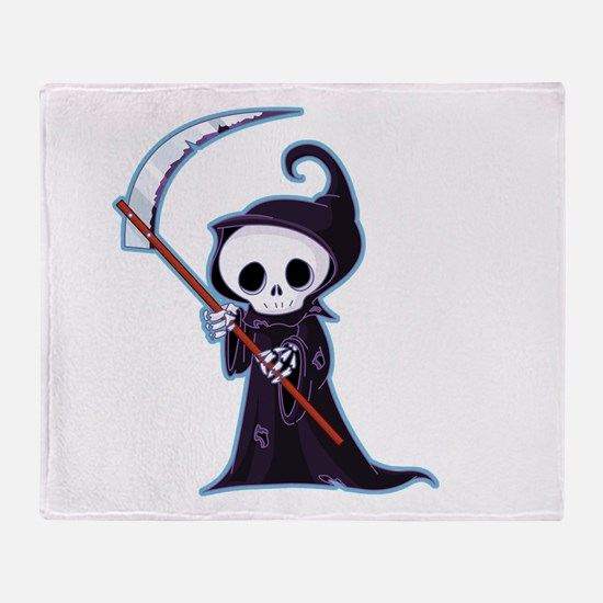 Sweet Little Death Throw Blanket