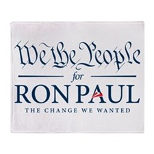 People for Ron Paul Throw Blanket