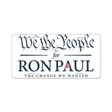People for Ron Paul Aluminum License Plate