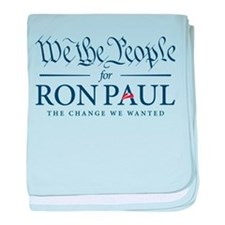 People for Ron Paul baby blanket