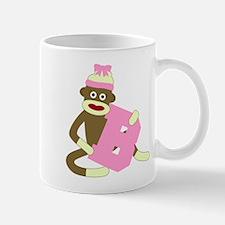 Sock Monkey Monogram Girl B Coffee Mug