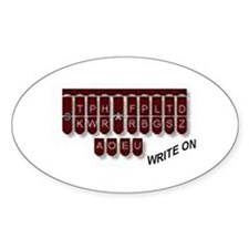 Write On! Oval Decal