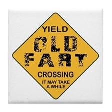 Old Fart Tile Coaster