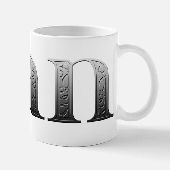 Dan Carved Metal Mug