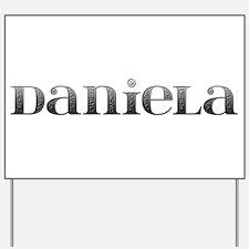 Daniela Carved Metal Yard Sign