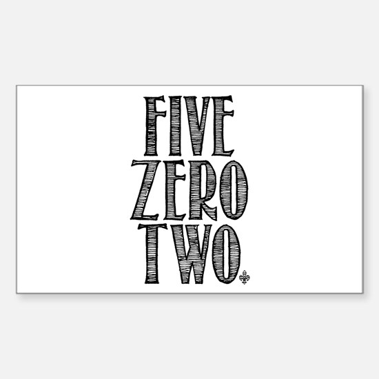 Five Zero Two Sticker (Rectangle)