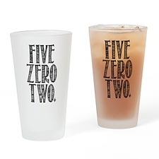 Five Zero Two Drinking Glass