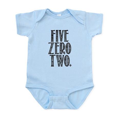 Five Zero Two Infant Bodysuit