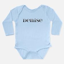 Denise Carved Metal Long Sleeve Infant Bodysuit
