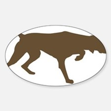 Weimaraner Silhouette Oval Decal