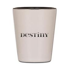 Destiny Carved Metal Shot Glass