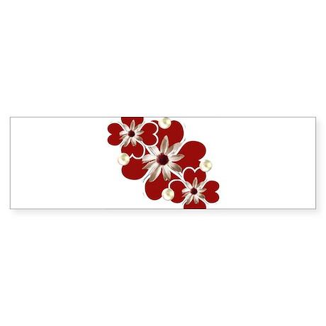 Hearts and Pearls Sticker (Bumper)