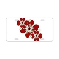 Hearts and Pearls Aluminum License Plate