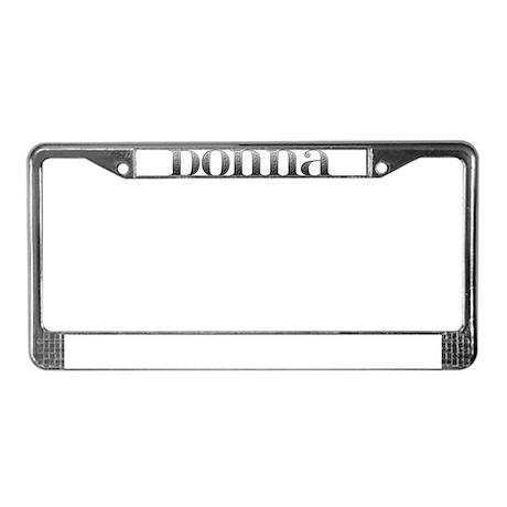 Donna Carved Metal License Plate Frame