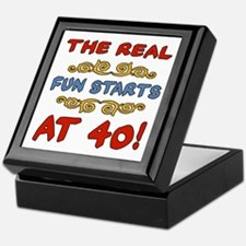 Real Fun 40th Birthday Keepsake Box