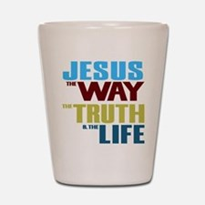 Jesus Way Truth Life Shot Glass