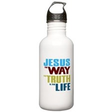 Jesus Way Truth Life Sports Water Bottle