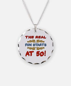 Real Fun 50th Birthday Necklace