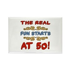 Real Fun 50th Birthday Rectangle Magnet