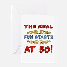 Real Fun 50th Birthday Greeting Card