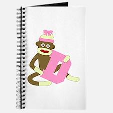 Sock Monkey Monogram Girl D Journal