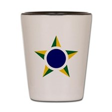 Brazil Roundel Shot Glass