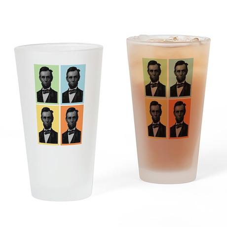 4 Score Lincolns Drinking Glass