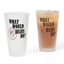 What Would Julius Do? Drinking Glass