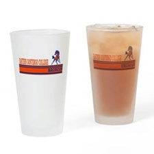 Oostego Broncos Drinking Glass