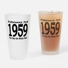 1959 - The Day the Music Died Drinking Glass